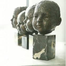 portretten kleinkinderen, brons