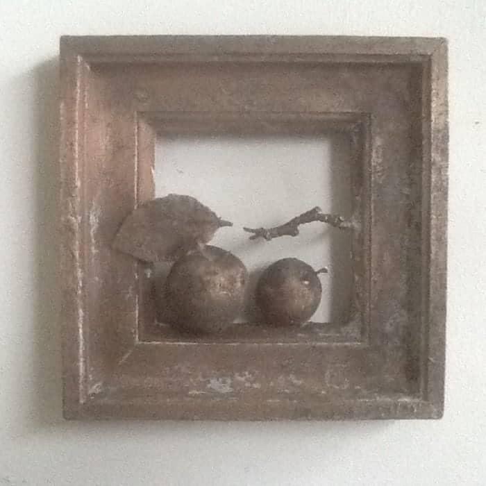 Stilleven met appels, brons